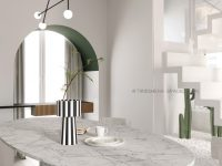round-marble-dining-room-table-in-contemporary-dining-room-with-arched-doorways