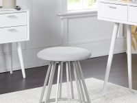 round-vanity-stool-with-matte-silver-base-and-soft-grey-cushion-versatile-design