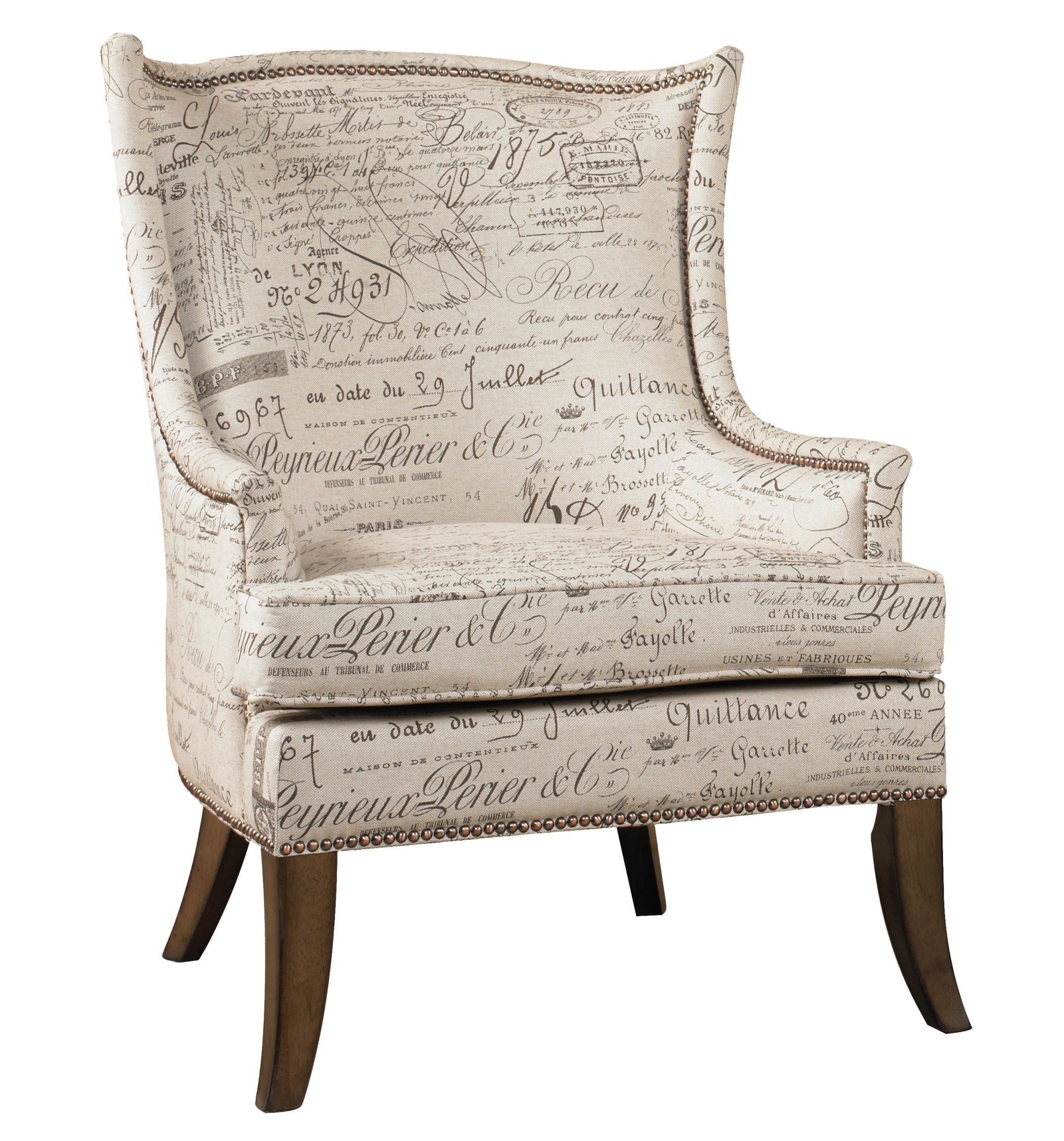 Sanctuary Paris Accent Chair With Exposed Wood Legshooker Furniture At  Suburban Furniture with regard to Living Room Furniture Accent Chairs