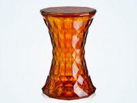 semitransparent-faceted-orange-designer-vanity-stool