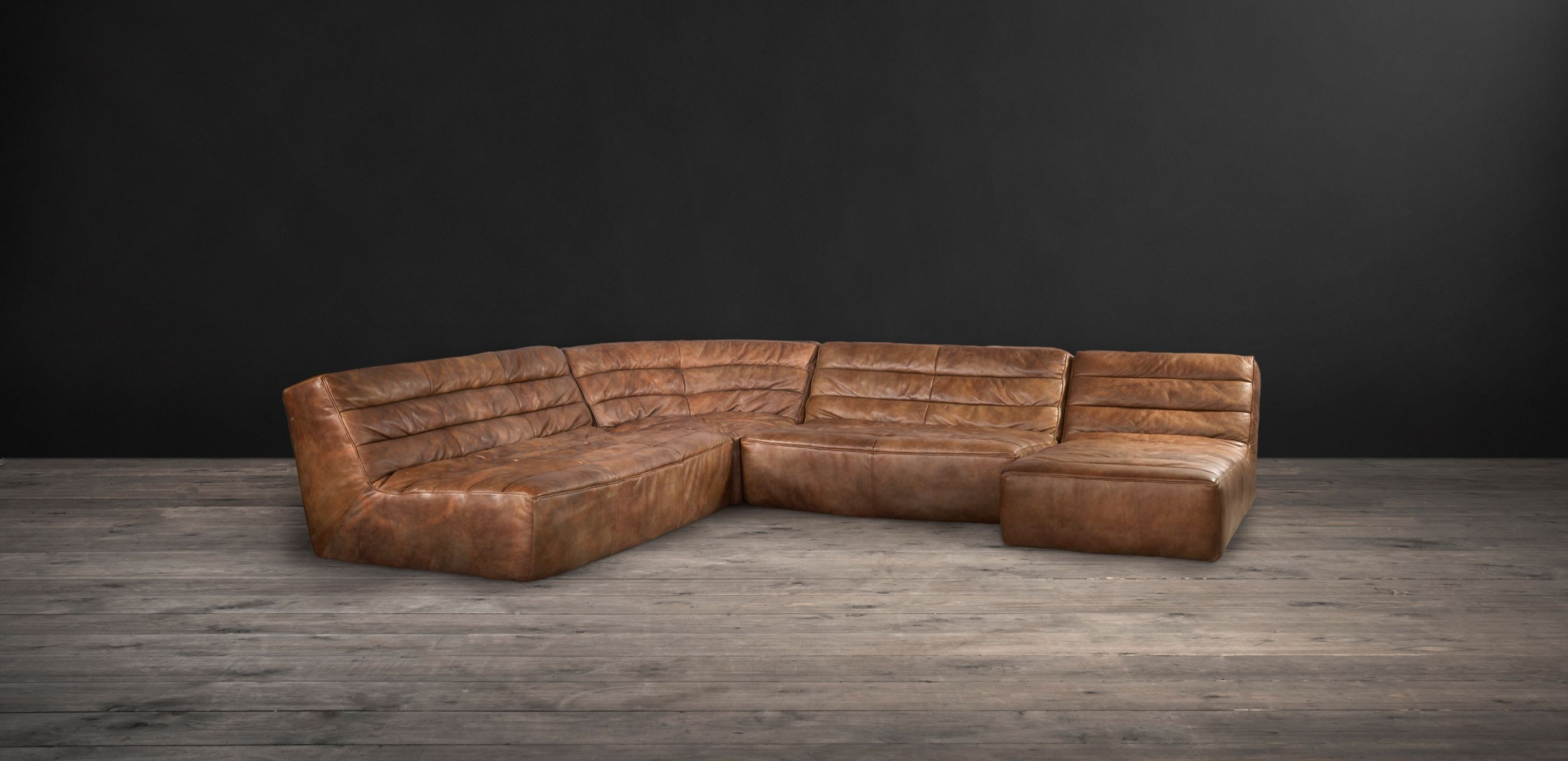 Shabby Leather Sectional Sofa | Timothy Oulton inside Leather Sectional Sofa