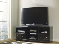 Shay Black Large Tv Stand within New Furniture Tv Stands