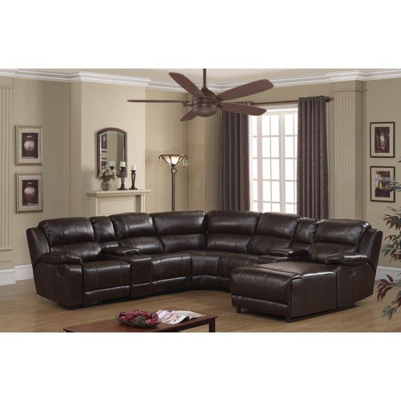 Shop Colton Dark Brown Bonded Leather Sectional Sofa – On inside Best of Leather Sectional Sofa