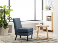 Silla Armless Accent Chair Modern Living Room Chairs Blue Pa in Modern Living Room Chairs