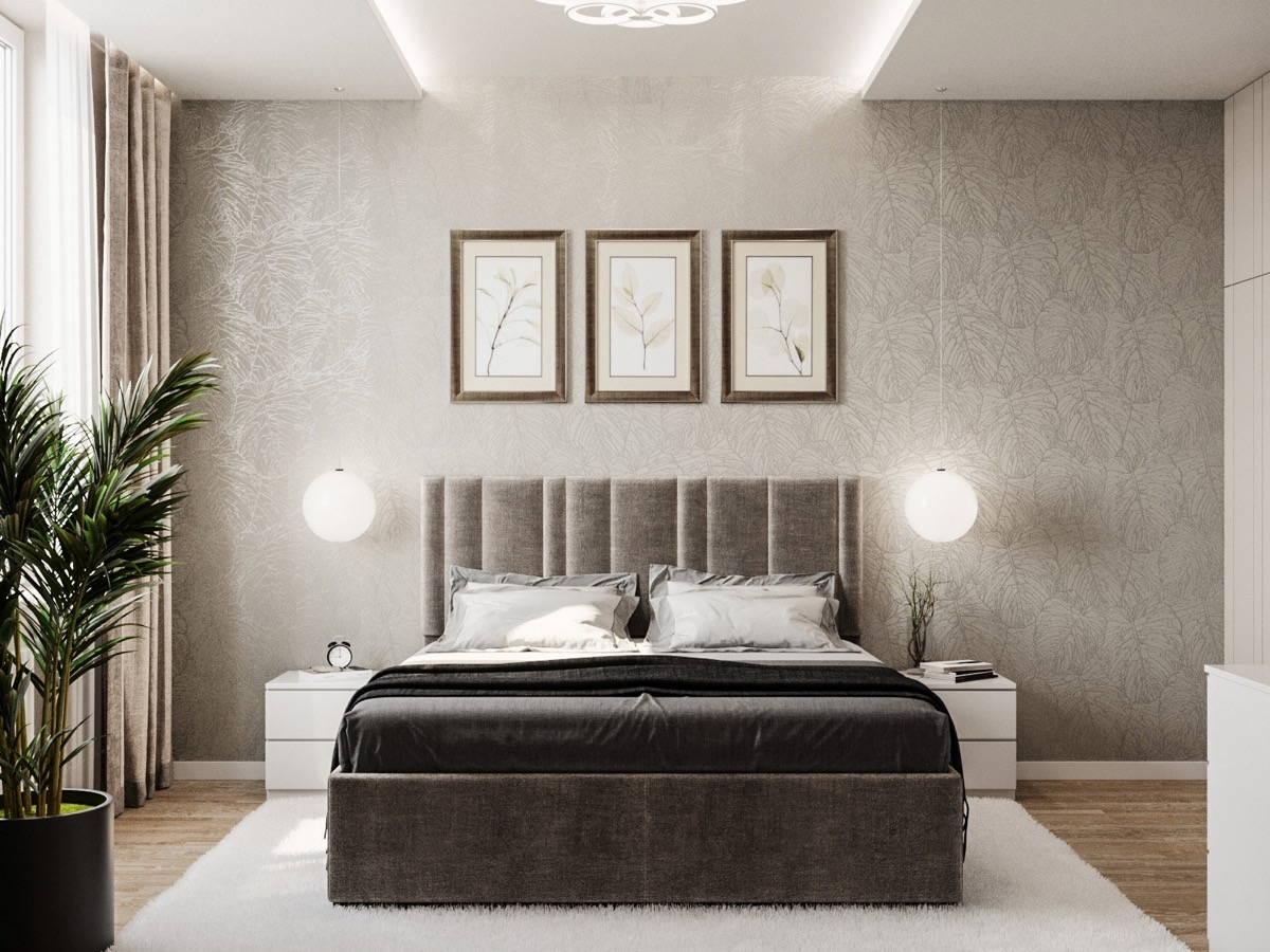 simple-neutral-transitional-bedroom-design-with-natural ... on Neutral Minimalist Bedroom Ideas  id=87145