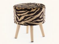 small-vanity-stool-with-faux-tiger-fur-upholstery-striped-design