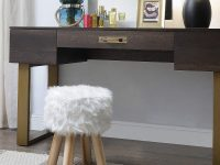 small-white-furry-vanity-stool-for-the-bedroom
