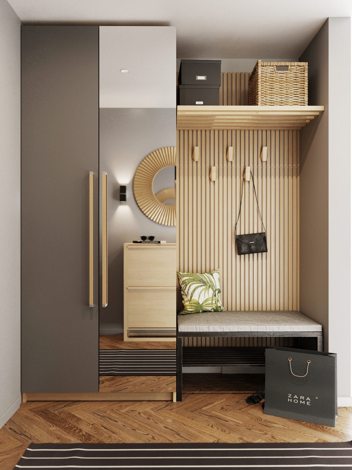 smart-entryway-layout-design-bench-mirror-and-wall-hooks