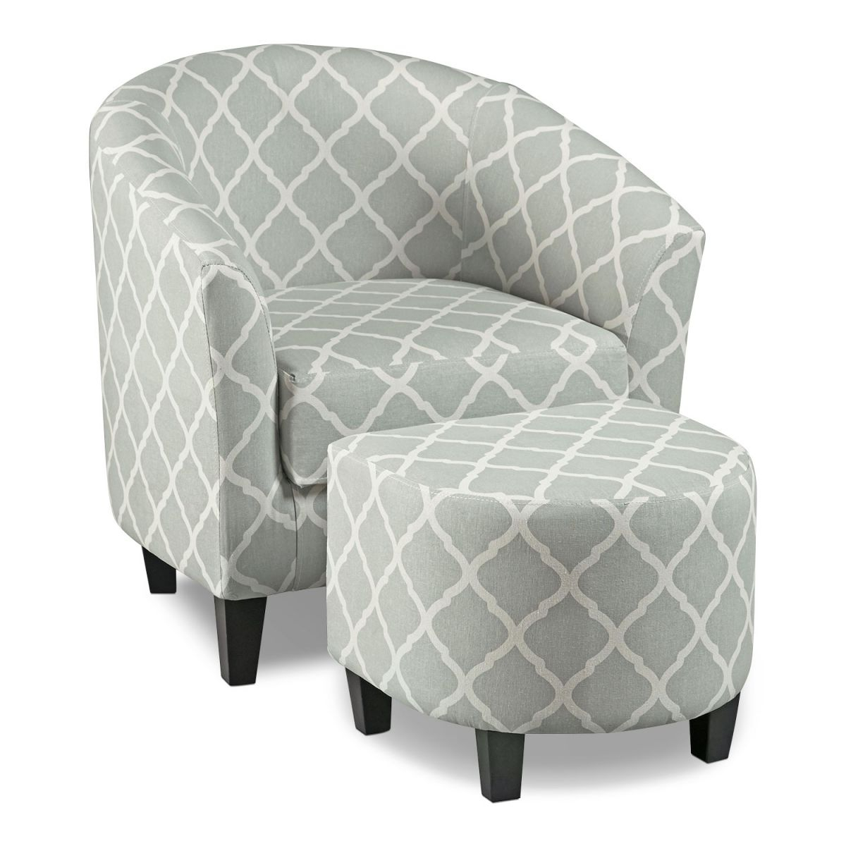 Sperrie Accent Chair And Ottoman – Gray inside Best of Living Room Furniture Accent Chairs