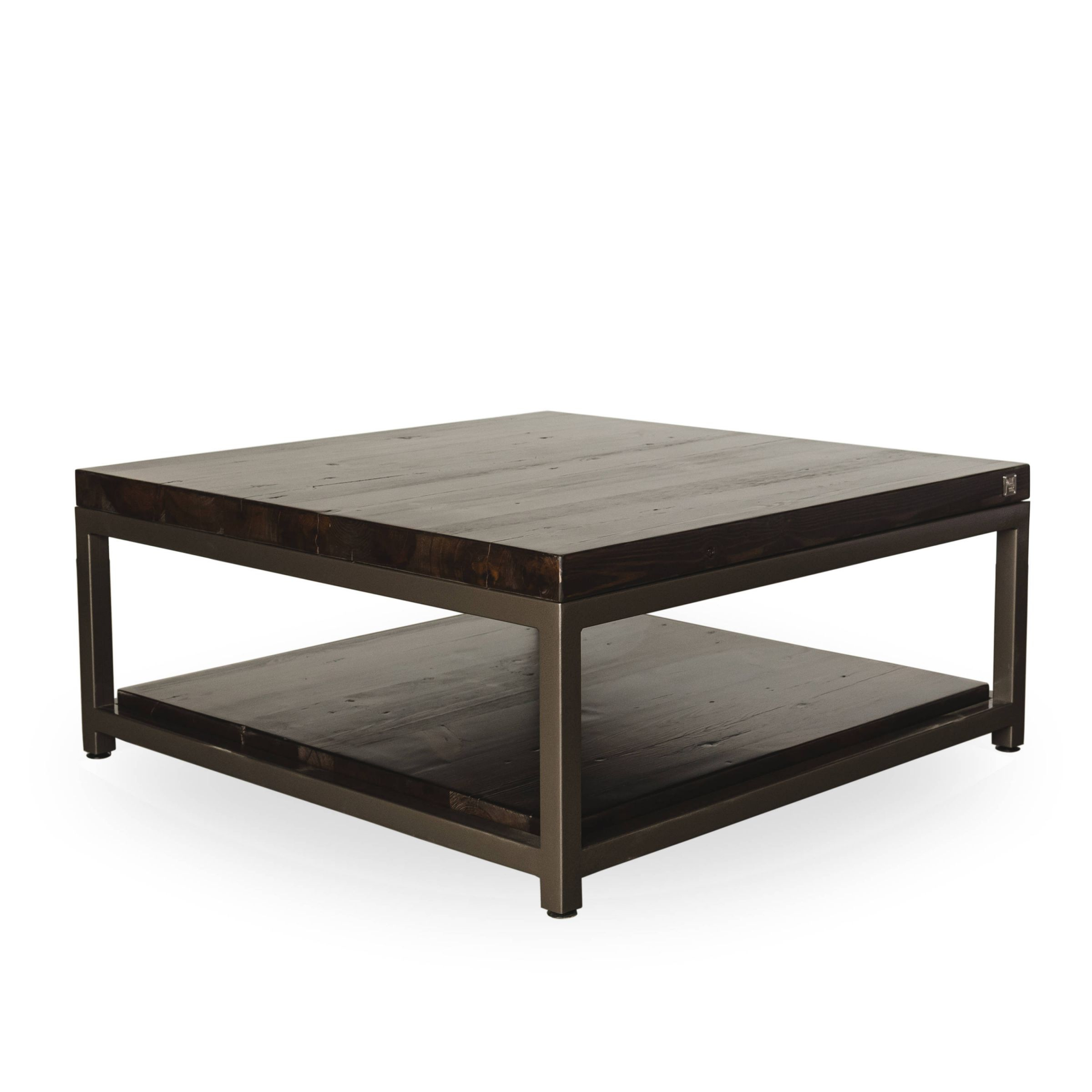 Square Coffee Table Or Rectangle Coffee Table With Storage, Reclaimed Wood  Top And Shelf. Choose Size, Thickness, And Finish. with regard to Elegant Square Coffee Table With Storage