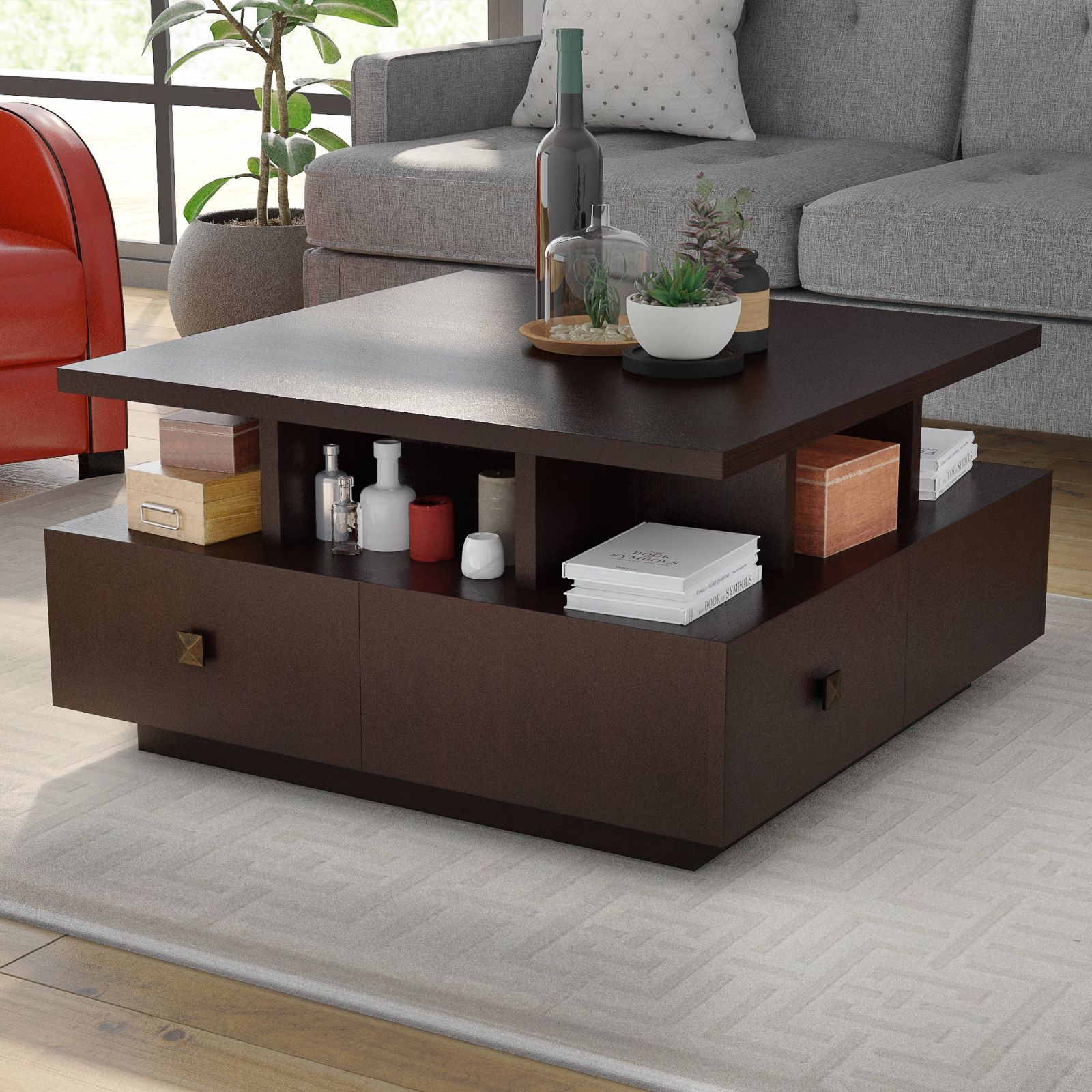 Square Coffee Table With Storage