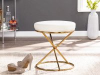 stylish-gold-vanity-stool-with-white-round-cushion-for-luxurious-interior-design