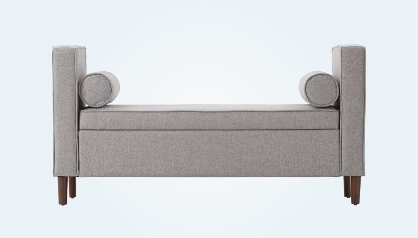 super-modern-storage-bench-in-grey-with-armrests-and-cylinder-cushions