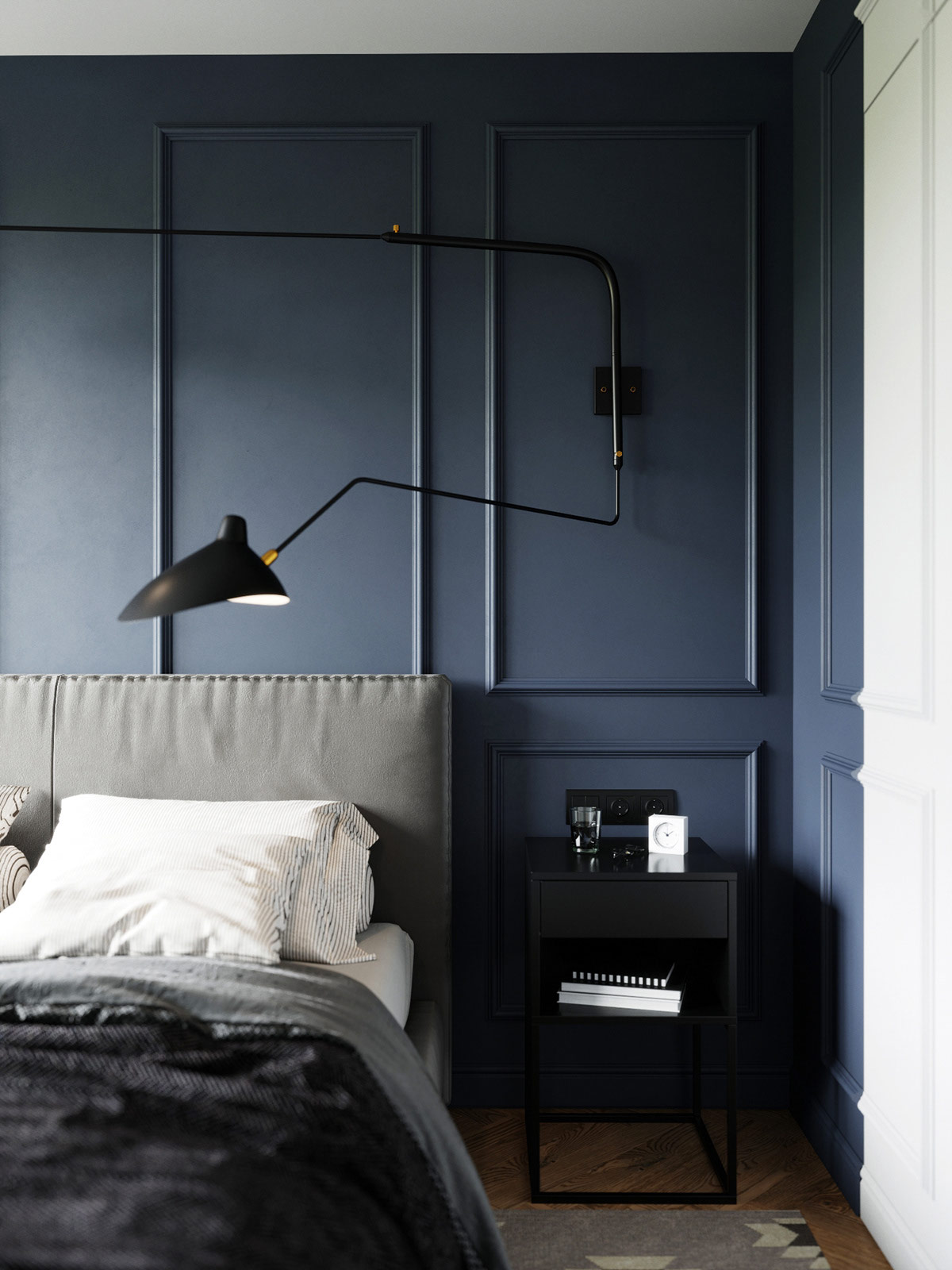 swing-arm-wall-lamp-idea-for-modern-bedroom-design