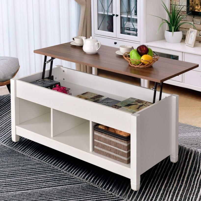 Tangkula Coffee Table | Best Cheap Coffee Tables With Storage for Luxury Living Room Table