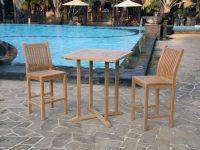 Teak Bar 3Pc Set intended for Beautiful Teak Outdoor Furniture Set