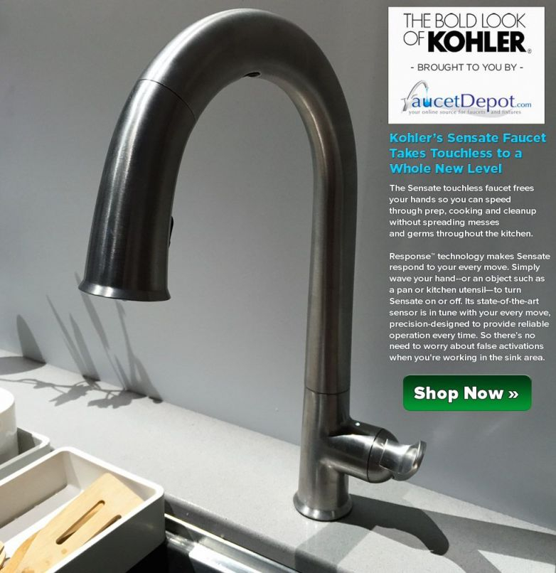 This Touchless Kitchen Faucet Gets Into Action Within A Few with New Touchless Kitchen Faucet