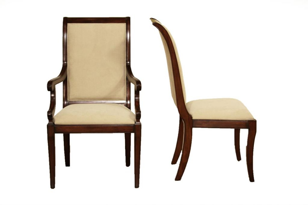 Transitional Saber Leg Solid Mahogany Dining Room Chairs within Elegant Dining Room Chairs