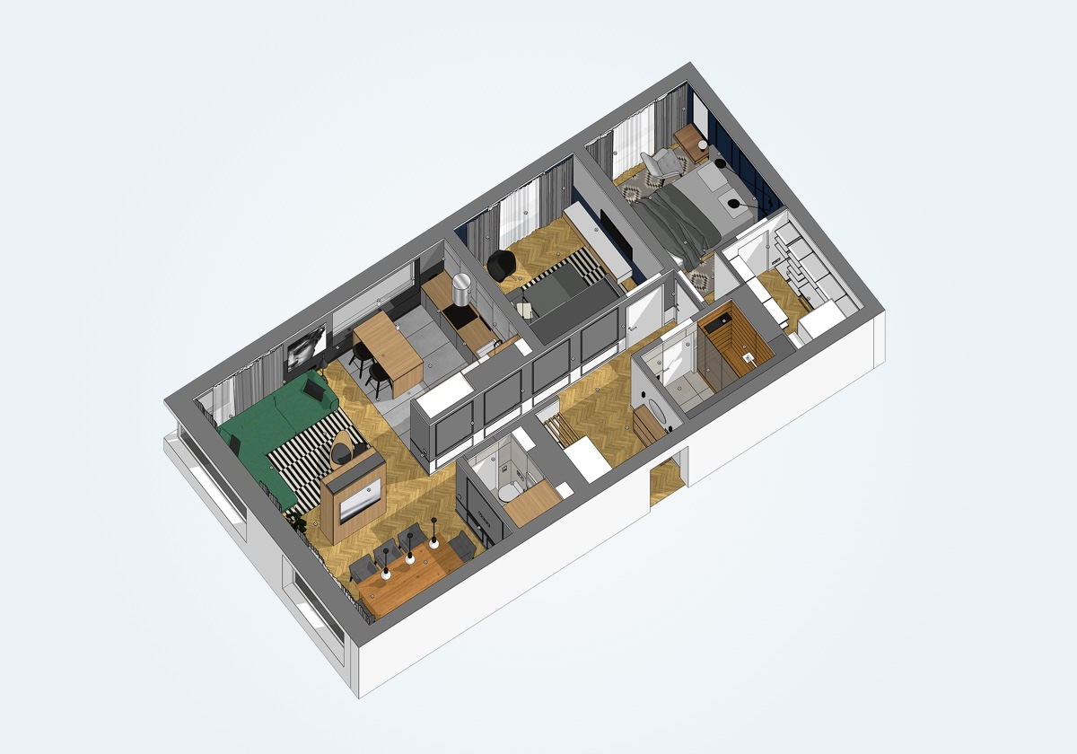 two-bedroom-apartment-3D-floor-plan-with-walk-in-closet