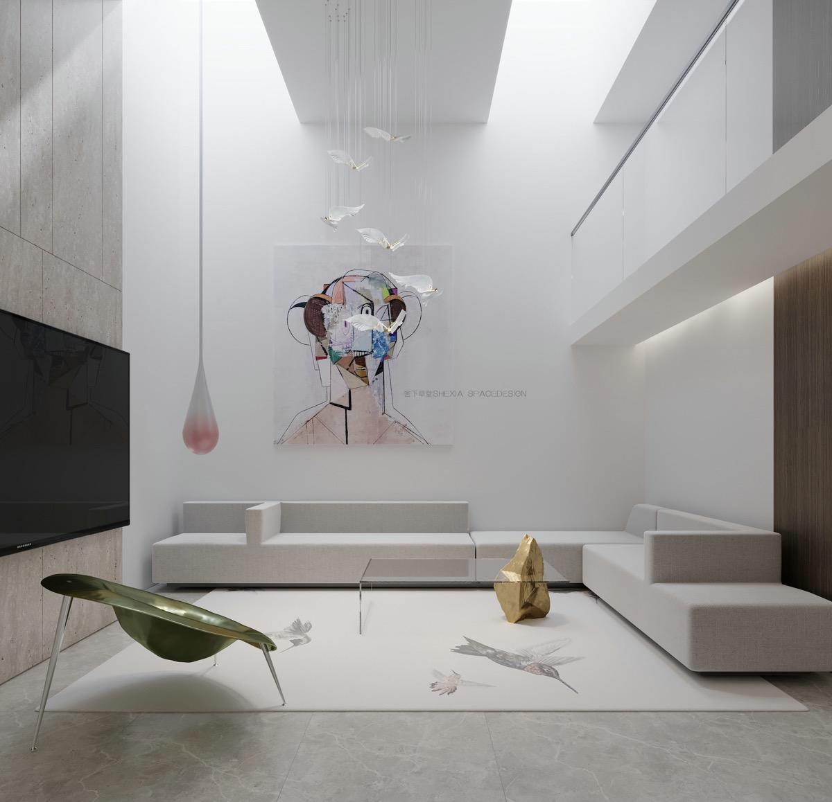 unique-color-theme-ideas-in-marble-entertainment-room