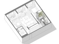 unique-home-layout-with-glass-wall-bathroom-partition