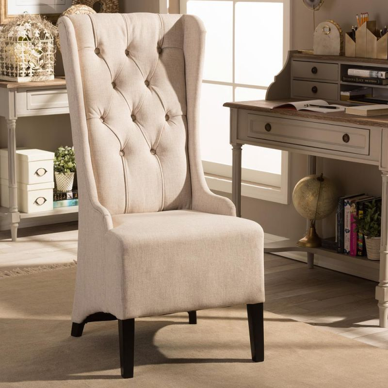Vincent Beige Fabric Upholstered Accent Chair inside Best of Living Room Furniture Accent Chairs