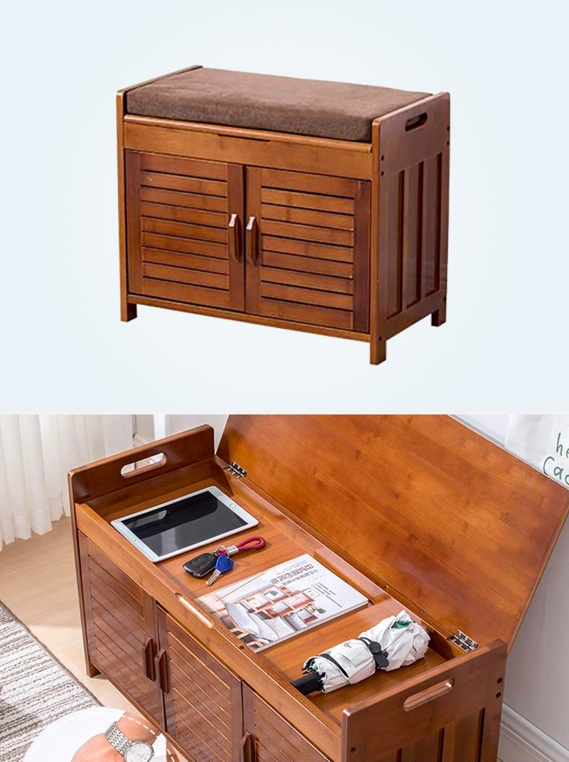 warm-finished-small-storage-bench-with-cabinets-and-under-seat-storage