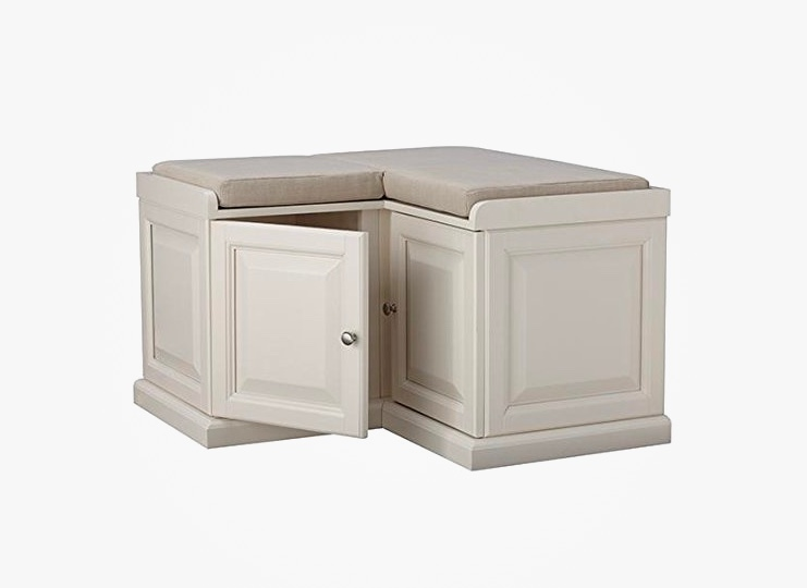 white-corner-storage-bench-with-cushion-and-two-cabinets