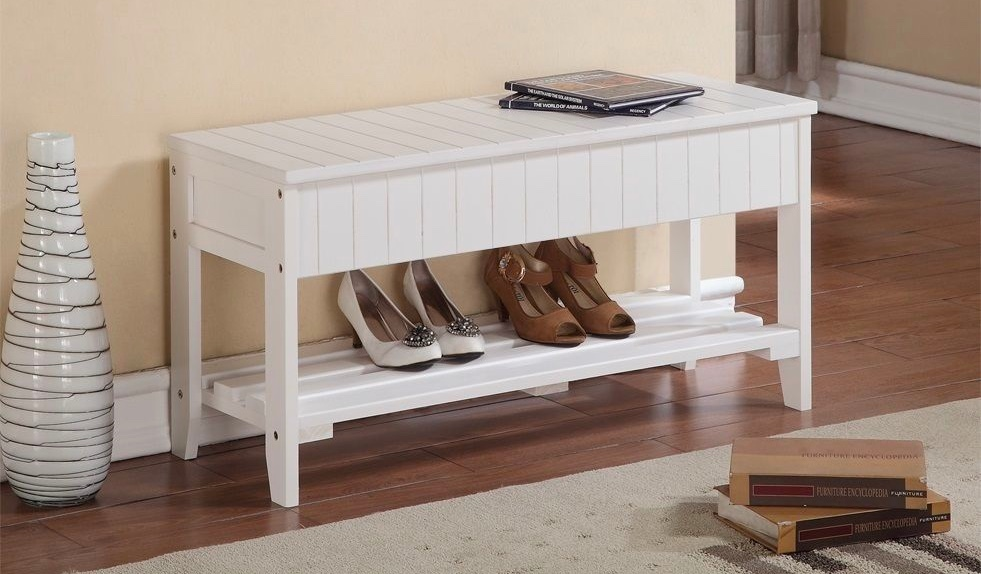 white-entryway-storage-bench-with-open-lower-shelf