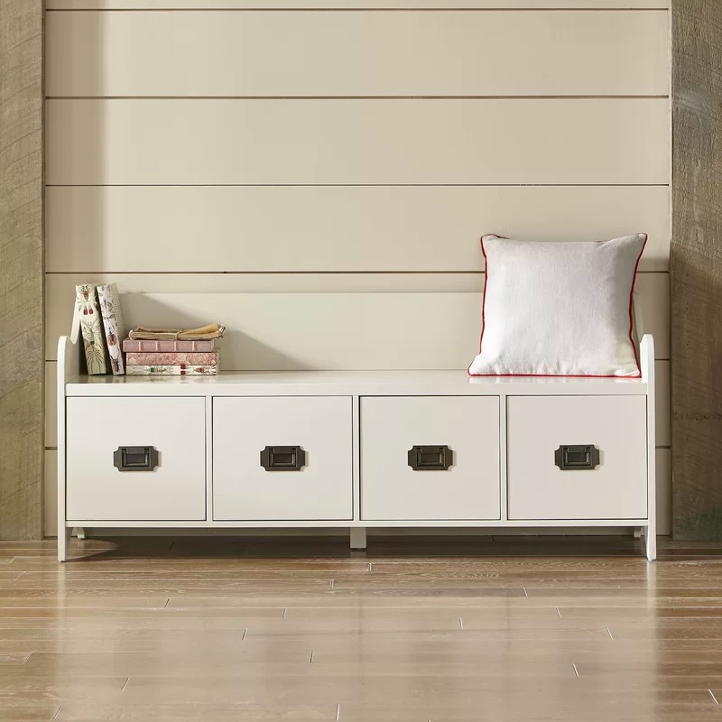 white-storage-bench-with-4-drawers-and-small-backrest