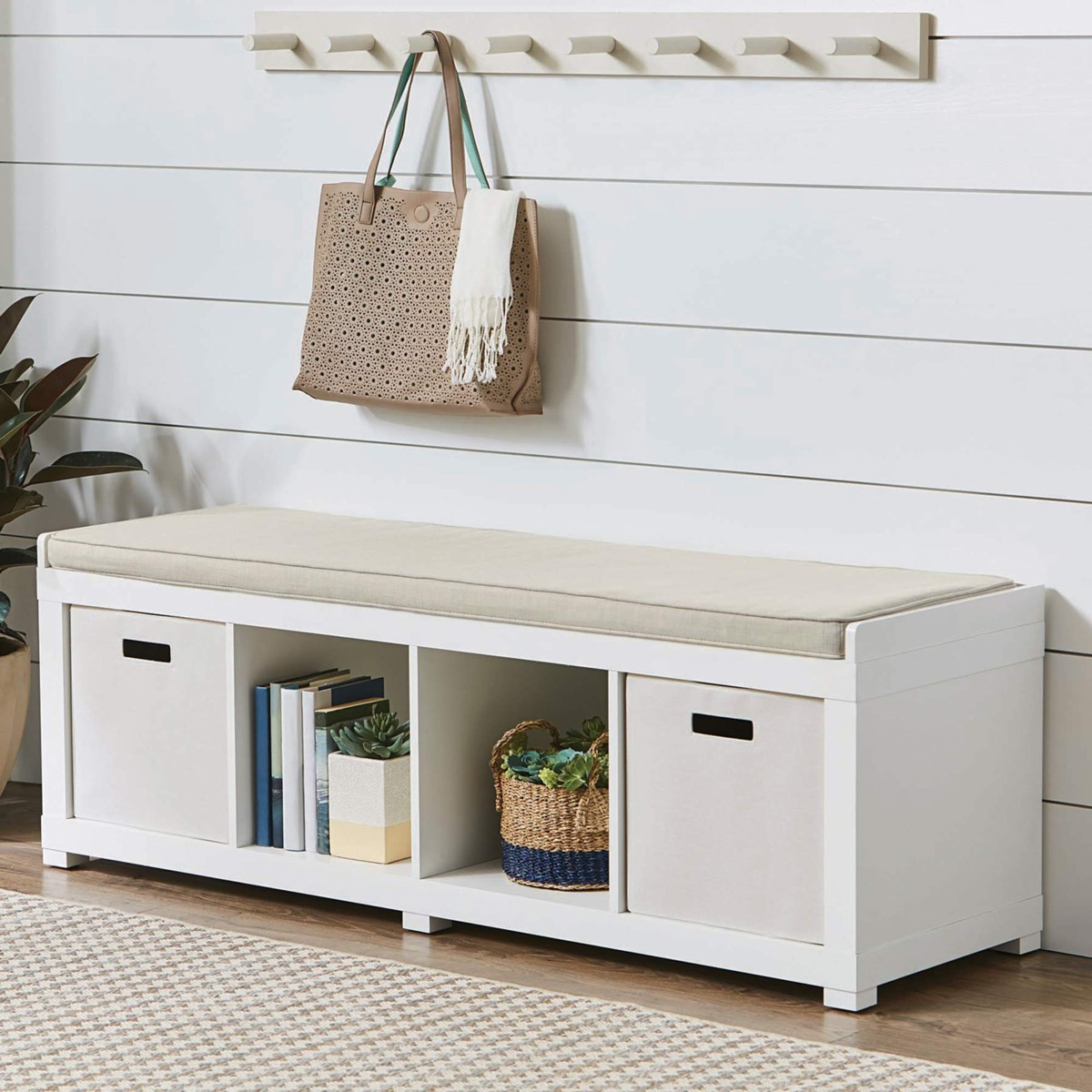 white-storage-bench-with-cushions-and-front-cubbies