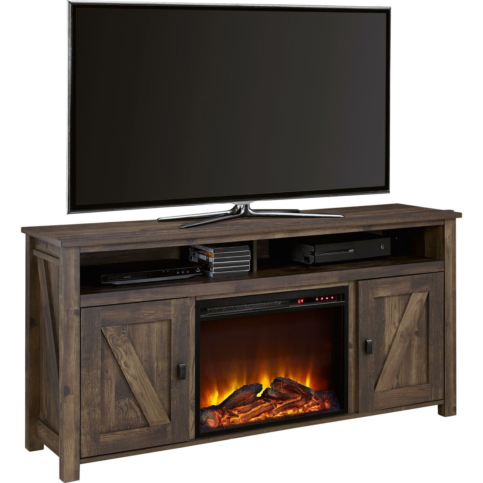 "Whittier Tv Stand For Tvs Up To 60"" With Fireplace intended for Furniture Tv Stands"