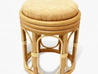 wood-rattan-vanity-stool-with-round-cushion-seat