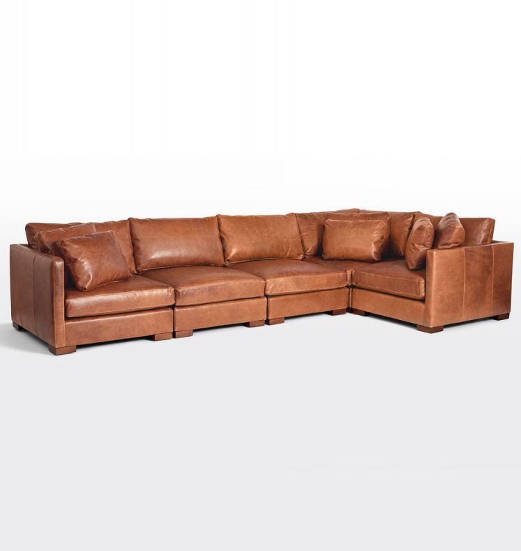 Wrenton 5-Piece Leather Sectional Sofa | Rejuvenation intended for Leather Sectional Sofa