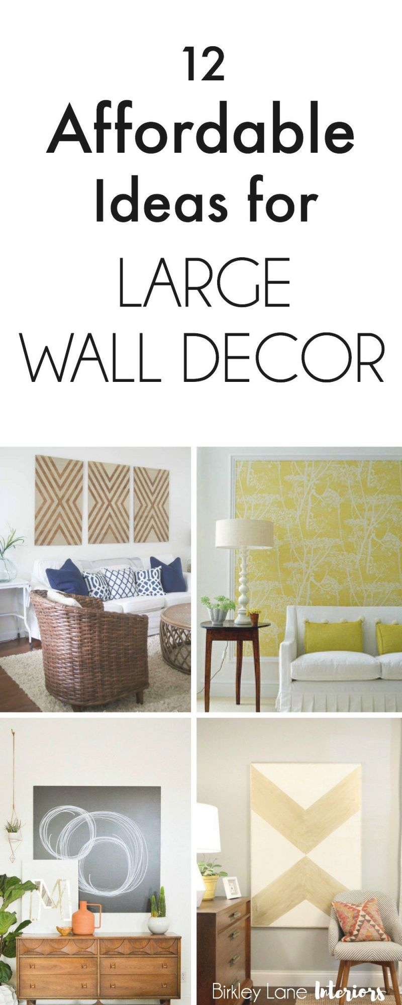 12 Affordable Ideas For Large Wall Decor | Birkley Lane throughout Elegant Large Wall Decor Ideas For Living Room