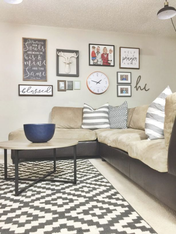 12 Affordable Ideas For Large Wall Decor | Birkley Lane with Elegant Large Wall Decor Ideas For Living Room