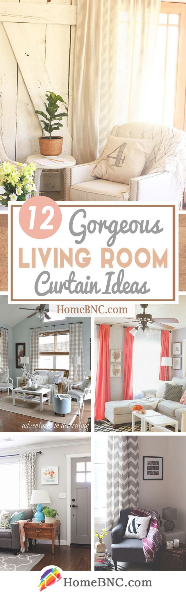 Beautiful Curtains Ideas For Living Room - Awesome Decors