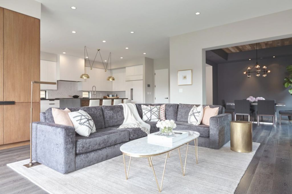 12 Living Room Ideas For A Grey Sectional   Hgtv's throughout Grey Sectional Living Room Ideas