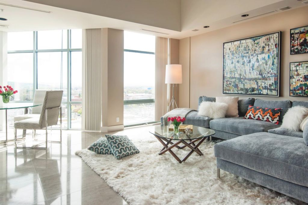 12 Living Room Ideas For A Grey Sectional | Hgtv's with ...