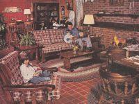 1977 Sears Open Hearth Family Room Furniture Magazine Ad in Unique Sears Living Room Furniture