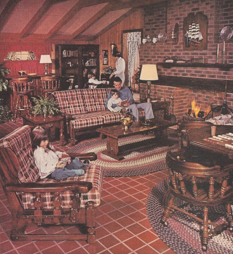 1977 Sears Open Hearth Family Room Furniture Magazine Ad in Unique Sears Living Room Furniture