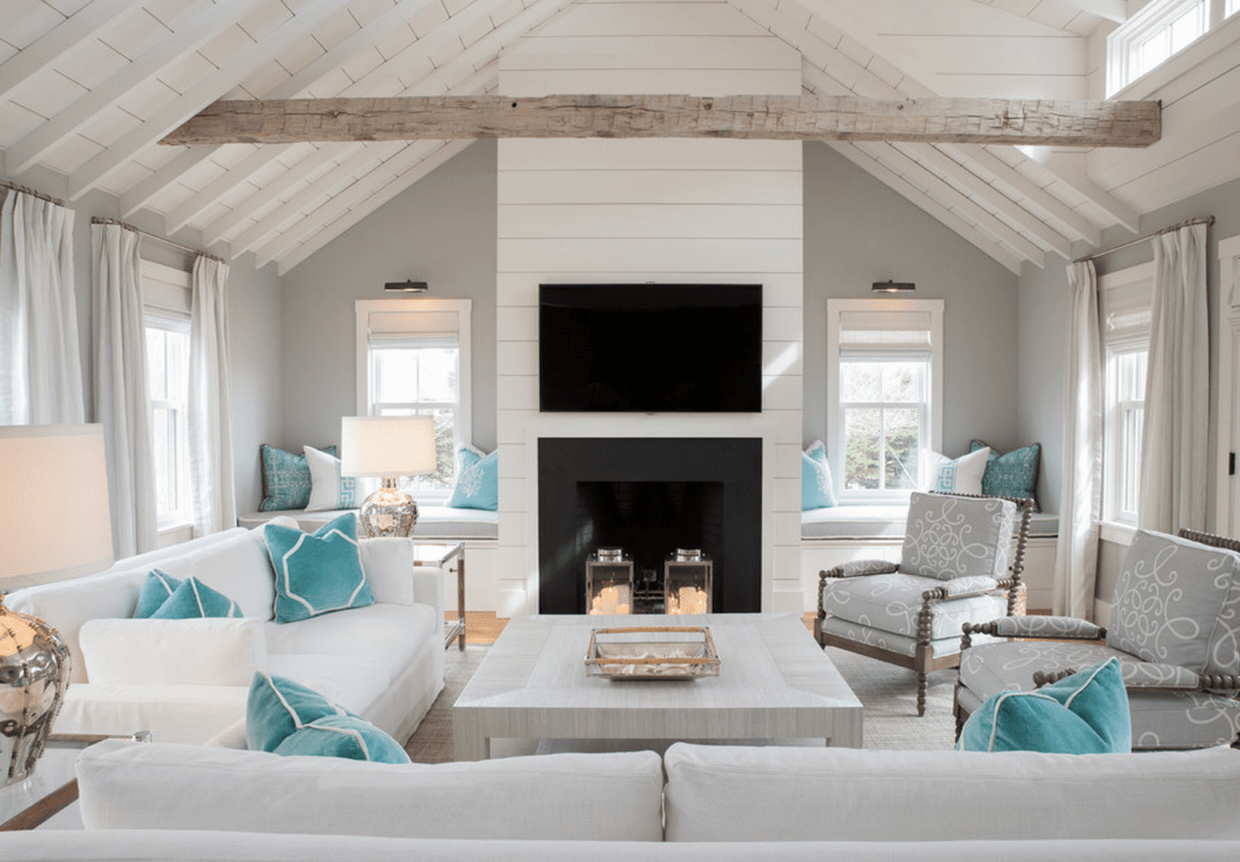 20 Beautiful Beach House Living Rooms within Coastal Living Room Ideas