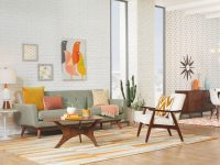 20 Mid-Century Modern Living Room Ideas | Overstock for Modern Living Room Furniture