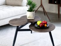 3-Table-Top-Rustic-Coffee-Table-Wood-Round-Top-Multi-Level-Cheap-Amazon