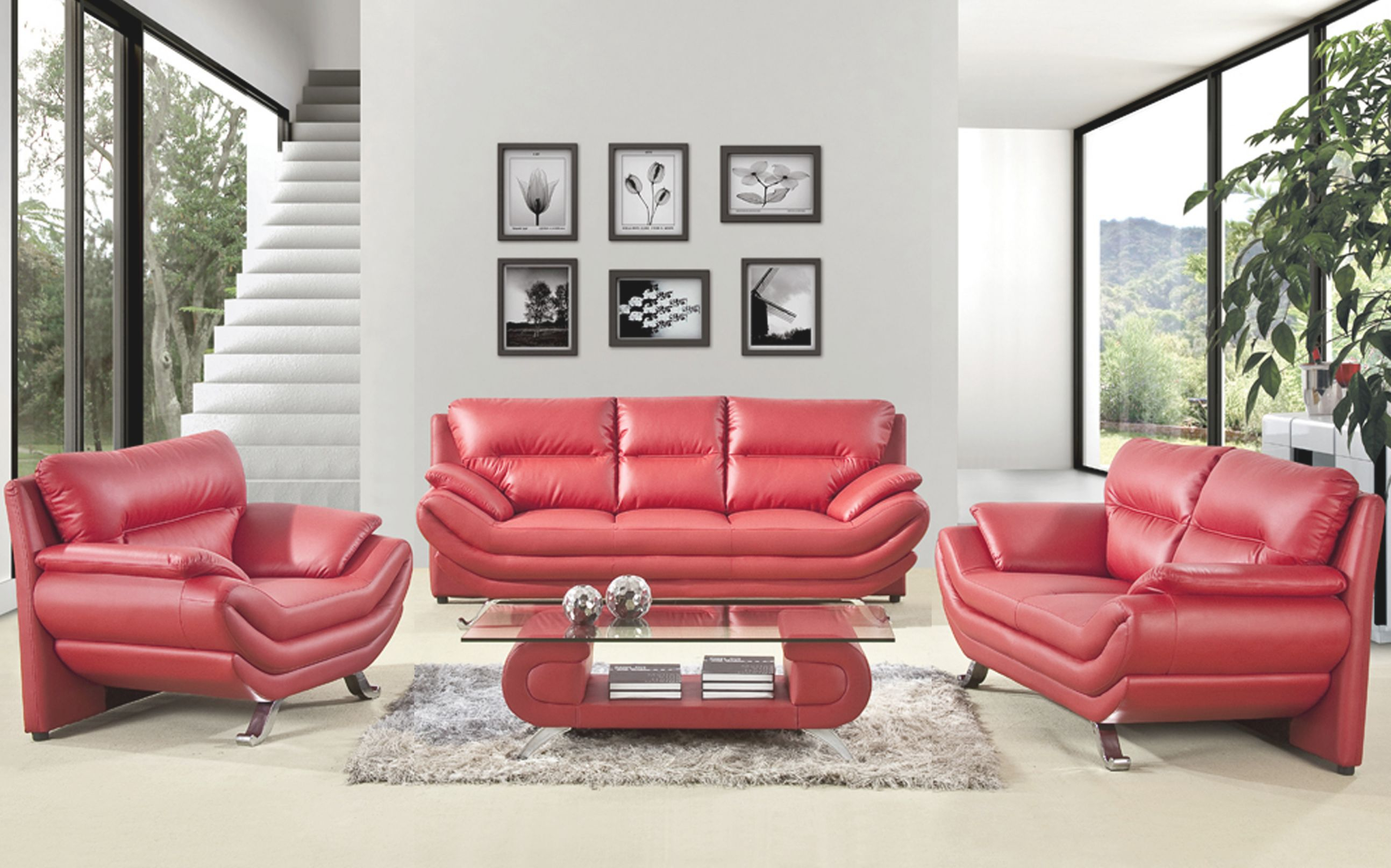 32 Red Leather Sofa Decorating Ideas Red Leather Couch Pertaining To Red Leather Living Room Furniture Awesome Decors