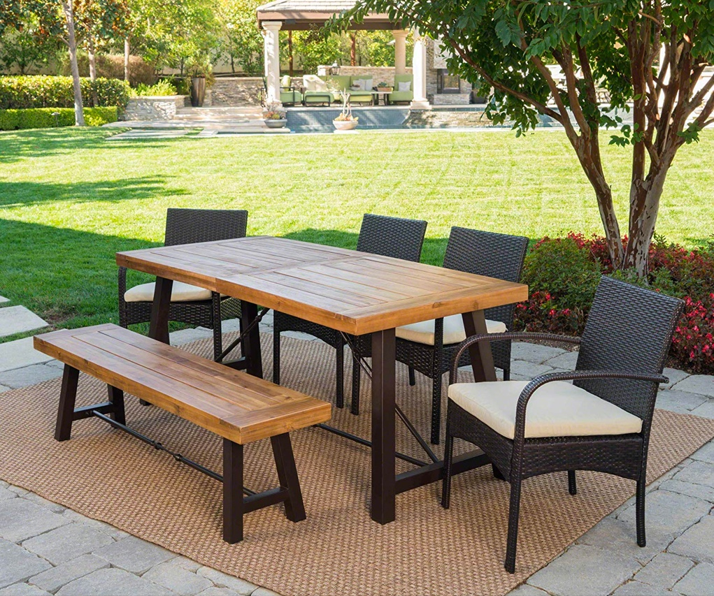 6-Piece-Outdoor-Dining-Set-With-Bench-Farmhouse-Chic-Picnic-Table
