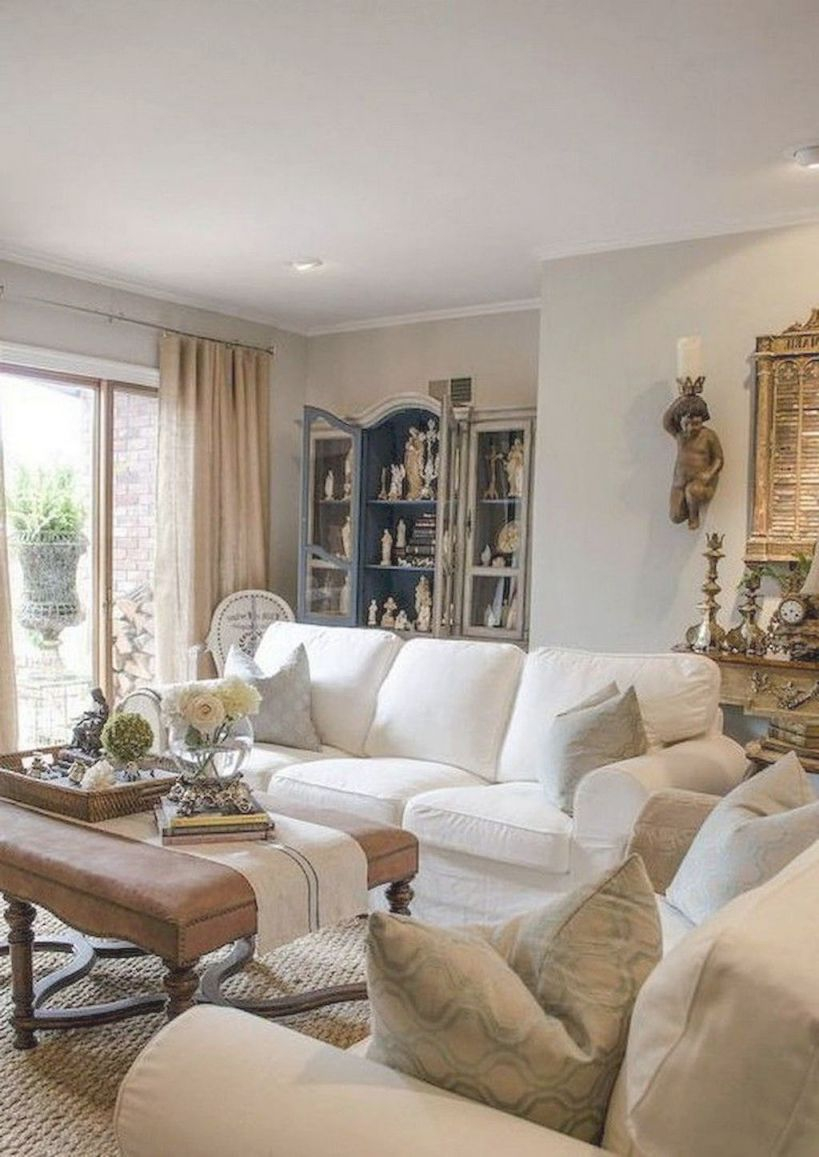60 Fancy French Country Living Room Decor Ideas | Interiors ...