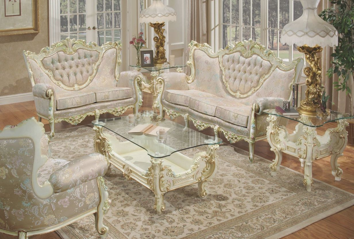603 Aj Floral Fabric Polrey French Provincial Style Living Room intended for Floral Living Room Furniture