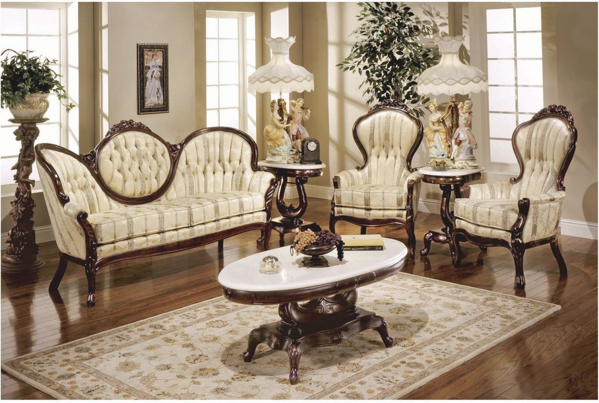 606 Aj Floral Fabric Polrey French Provincial Style Living Room Set in New Floral Living Room Furniture