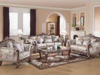 611 Traditional Living Room Set Cherry Wood Trim within Best of Traditional Living Room Furniture Sets